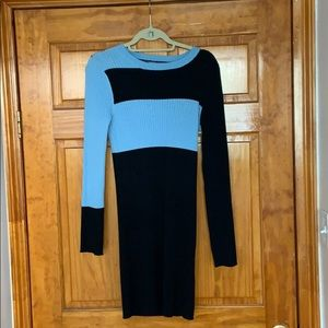 Color Block Stretchy Sweater Dress